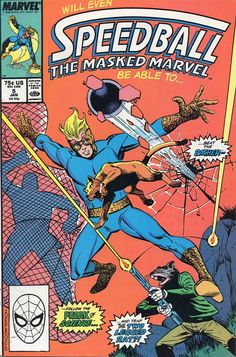 Speedball # 5 by Steve Ditko & Bruce Patterson New Warriors, Marvel Comic Character, Marvel Comic Books, Marvel Comics, Spiderman, Absorbing Man, Comic Book Collection, Steve Ditko, Comic Drawing