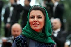 Leila Hatami… Renowned Iranian Filmstar has been punished back home at Iran after she gave a peck on the cheeks of Gilles Jacob, the #CannesFestival President