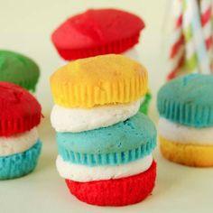 Rainbow Mini Cakes -- so cute and fun!!