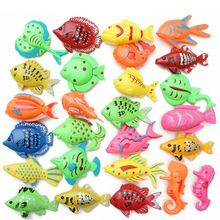 5pcs/lot Learning & education magnetic fishing toy comes outdoor fun & sports fish toy gift for baby/kid GYH(China (Mainland))