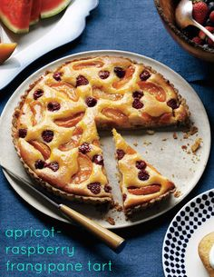 This showstopping summer tart features fresh apricot and raspberries studded inside a custardy almond filling. Together with the buttery crust, it'll truly be a dessert to reemember.