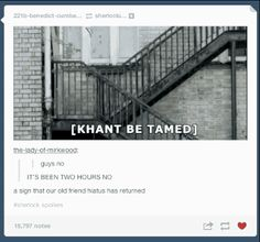 "KHANT BE TAMED. The ""Sherlock"" Season 3 Finale Caused Tumblr To Self-Destruct"