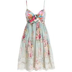 Sundance Embroidered Dress ($495) ❤ liked on Polyvore featuring dresses, vestidos, floral printed dress, embroidered dress, swimming dress, floral embroidery dress and full cotton skirt
