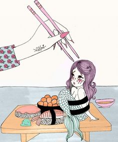 Valfre mermaid sushi