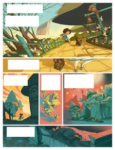 THE WIZARD OF OZ comic book PAGES by Enrique Fernandez, via Behance