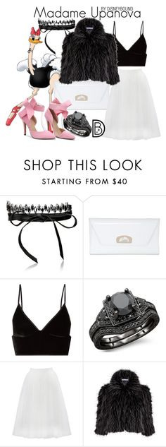 """""""Madame Upanova"""" by leslieakay ❤ liked on Polyvore featuring Fallon, Christian Louboutin, T By Alexander Wang, Bailey 44, Gina Bacconi, disney, disneybound and disneycharacter"""