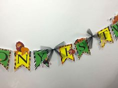 Simba,Lion King,Banner,Birthday Banner,Birthday Decorations,Jungle Party,Party Supplies,Baby Shower,Savannah,Animal Print,First Birthday by LoveToFiesta on Etsy