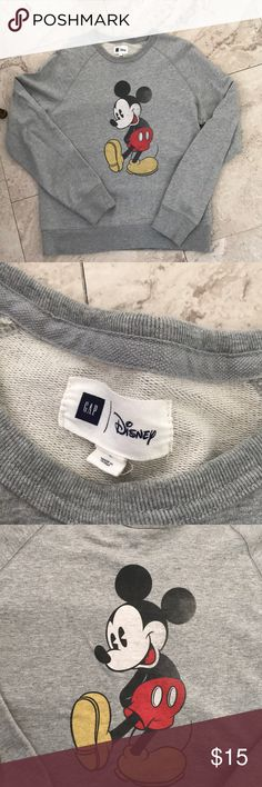 Gap Mickey Mouse Crew Neck Vintage inspired Mickey Mouse Crew Neck Sweater, Worn Once, Has no damages GAP Sweaters Crew & Scoop Necks