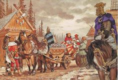 Western nobles transport holy stones through a town Medieval World, Medieval Fantasy, Viking Life, Ancient Persia, Historical Art, Iron Age, Anglo Saxon, Dark Ages, Ancient Civilizations