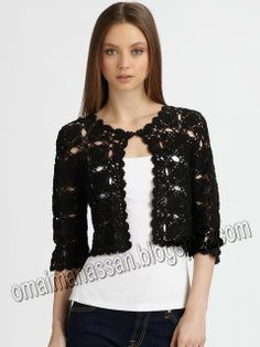 Cotton Crochet Cardigan by Harrison Morgan Available at stores nationwide. Crochet Coat, Crochet Jacket, Cotton Crochet, Crochet Cardigan, Crochet Shawl, Crochet Clothes, Crochet Motifs, Crochet Patterns, Irish Lace