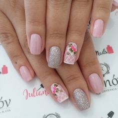 Best Nail Art Designs 2018 Every Girls Will Love These trendy Nails ideas would gain you amazing compliments. Check out our gallery for more ideas these are trendy this year. Gorgeous Nails, Love Nails, Pink Nails, My Nails, Trendy Nail Art, Cute Nail Art, Easy Nail Art, Finger, Gris Rose