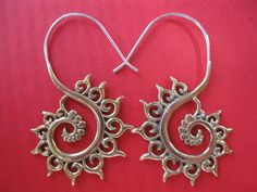FIBONACCI FRACTAL sacred geometry spiral earrings by ajmertribal, $26.00