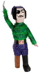 Gold Tooth Pirate Pinata (Pirate) by Unique Industries. $16.20. Size 61cm high x 24cm wide.. Make this pirate-shaped pinata the life of your party! Made of soft cardboard and paper, this pinata will split open easily to reveal its treasures inside. Toys and candies not included.
