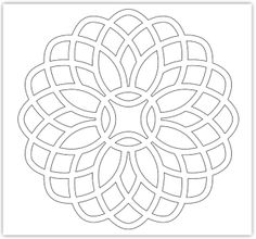 Free Mosaic Patterns to Print Free Mosaic Patterns, Stained Glass Patterns, Geometric Designs, Geometric Art, Mosaic Designs, Quilting Stencils, Quilting Designs, Mosaic Flowers, Daisy Pattern