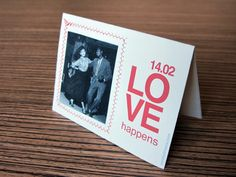 The Love Happens Photoframe by yorokobiness on Etsy, €3.00