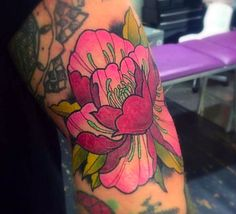 Peony Tattoo Color