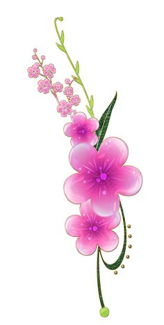 sweet pink flowers png by Melissa-tm