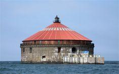 Buffalo Intake Crib Lighthouse, New York at Lighthousefriends.com