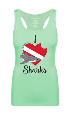 I Love Sharks: Scuba Diving Tank Top