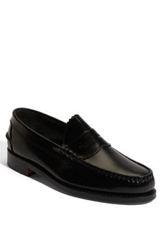 $225, Black Leather Loafers: Kenwood Penny Loafer Black Leather 9 D by Allen Edmonds. Sold by Nordstrom. Click for more info: http://lookastic.com/men/shop_items/69892/redirect
