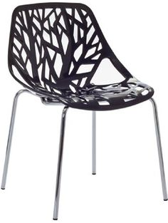 Lexmod Stencil Dining Side Chair in Black ❤ Lexington Modern