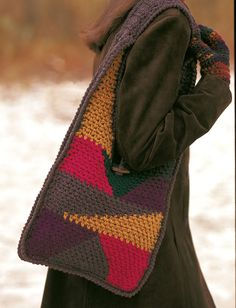 Patchwork Purse free crochet pattern
