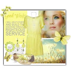 """LDS YW Value - Good Works"" fashion board"
