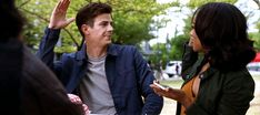 Barry and Iris high-fiving over the Whosits breaking up is just one of the (many) reasons why I heart these two, lol. (awesome gif by elektranatchios on tumblr)    |TV Shows|CW|#The Flash gifs|Season 4|4x03| Luck Be A Lady|Barry Allen|Iris West|#Westallen gifs|Grant Gustin|Candice Patton|#DCTV|Favorite couples|