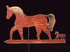 American Folk Art - Mare and Foal weathervane - 19th century        ****