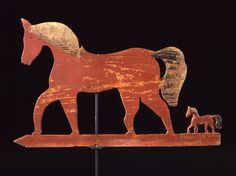 American Folk Art - Mare and Foal weathervane - 19th century