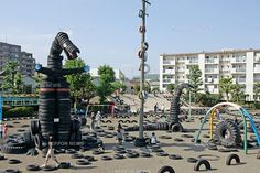 Named one of the top 10 playgrounds in the world by Conde Nash--Tire Park in Tokyo
