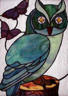 karen stained glass | Stained Glass Owl | Flickr - Photo Sharing!