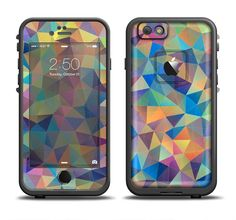 The Colorful Vibrant Triangle Connect Pattern Apple iPhone 6/6s Plus LifeProof Fre Case Skin Set from DesignSkinz