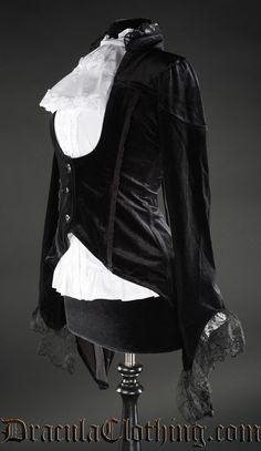 Black Velvet Tailcoat - Ladies Clothing