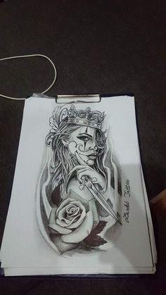 Prinzen Rose Tattoo Lesko Tattoo - Girls with sleeve tattoos - Dope Tattoos, Gangsta Tattoos, Forarm Tattoos, Badass Tattoos, Leg Tattoos, Body Art Tattoos, Girl Tattoos, Skull Girl Tattoo, Girl Power Tattoo