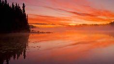 A 'painted' northern (Saskatchewan) sky...