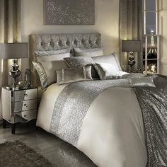 Kylie Minogue Cotton King Duvet Cover Bedding Bed Linen Set Mezzano Praline by Homespace Direct Bed Linen Sets, Bed Sets, Duvet Bedding, Bedding Sets, Beige Bedding, Comforter Cover, Kylie Minogue At Home, Super King Duvet Covers, Silver Bedroom