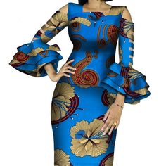 African Print Ruffles Sleeve Tops and Skirt Sets Knee-length clothing – DRESS THE LADIES African Fabric, African Dress, Couples African Outfits, Dress Outfits, Fashion Outfits, Dresses, Ruffle Sleeve, Traditional Outfits, Ruffles