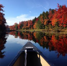 When the weather is good and/or you've got the right gear, you can paddle as long as the water is still in liquid form. And as shows in her photo above, leaf peeping from a canoe or kayak is twice as nice as leaf peeping on land. Twice As Nice, Adventure Photos, Canoe And Kayak, Paddle, Kayaking, Outdoor Gear, Tent, River, Park