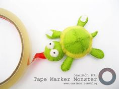 Crafting with Felts : Felt toy turtle