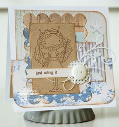 Patterned Paper - Papercrafts by Inge: March MFTeasers, Party Time; Fluttering By