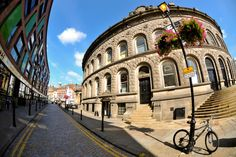 The rear of Leeds Corn Exchange. Leeds Corn Exchange, Street View, Mansions, House Styles, Manor Houses, Villas, Mansion, Palaces, Mansion Houses