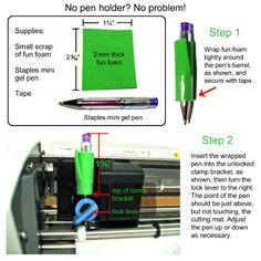 How to use a gel pen for sketching without buying the Silhouette pen holder.
