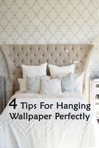4 Tips for hanging wallpaper perfectly