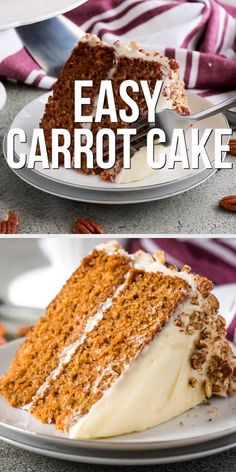 Easy Carrot Cake Who doesn't love a moist carrot cake with cream cheese frosting? Our recipe features one ingredient that creates a soft, moist carrot cake every time. Homemade Carrot Cake, Easy Carrot Cake, Healthy Carrot Cakes, Homemade Cake Recipes, Baking Recipes, Carrot Cake Recipes, Carrot Cake Ingredients, Baking Snacks, Cake Toppers