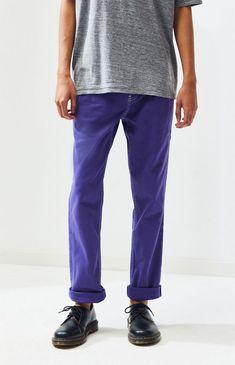 622091546298 PacSun Mens Purple Slim Taper Jeans | Spot Pop Fashion