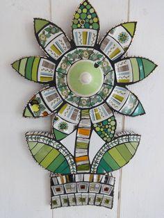 mosaic art. retro. botanical bloom by anna tilson | notonthehighstreet.com