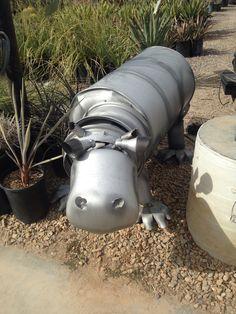 "Repurposed ""junk"" hippo"