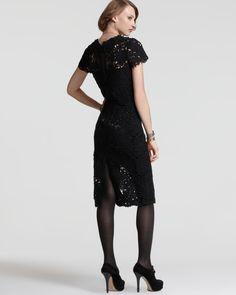 Ellie Tahari Lolly Short Sleeve Lace Dress #Dress #Lace #Ellie_Tahari