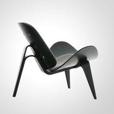 :: Hans J. Wegner: Three-Legged Chair, 1963 - Made by Johannes Hansen. Plywood :: The Joy of Hans Wegner :: Iconic Mid Century & Danish Modernism Danish Furniture, Design Furniture, Chair Design, Modern Furniture, Home Furniture, Scandinavia Design, Take A Seat, Nordic Design, Cool Chairs